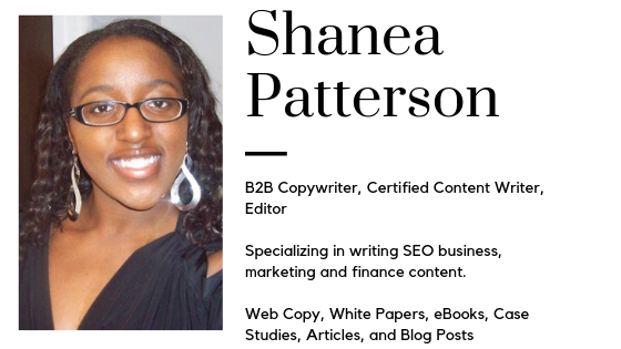 B2B copywriter, certified content marketing writer, editor  Specializing in writing SEO business, marketing, and finance content.  Web copy, white papers, eBooks, case studies, articles, and blog posts